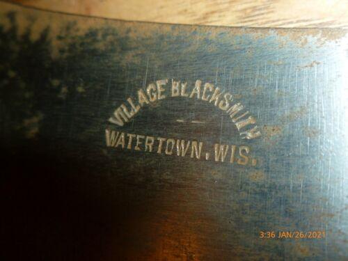 "Vintage VILLAGE BLACKSMITH -7"" Blade High Carbon Meat Cleaver NICE!!   WISCONSIN"