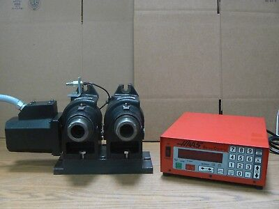 Haas Dual Ha5c 17 Pin Rotary Indexer W Air Closer Servo Controller Ha5c2
