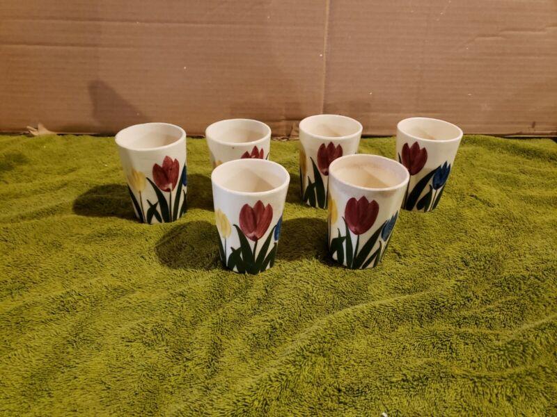 """Ceramic Shot/Sake Glasses Vintage 3"""" High Made In Japan - Lot Of 6"""