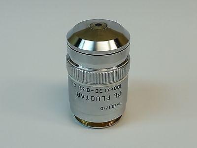Leica Pl Fluotar 100x1.30-0.60 0.17d Oil Microscope Objective Pn 506009