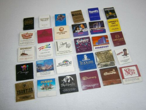 Lot 30 LAS VEGAS Matches From Closed Casinos - Most are Unstruck RARE + BONUS 10