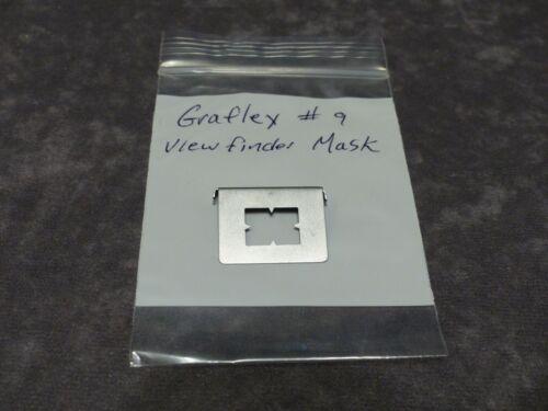 GRAFLEX #9 VIEWFINDER STANDARD MASK FOR  3X4 4X5 SPEED/CROWN GRAPHIC CAMERA