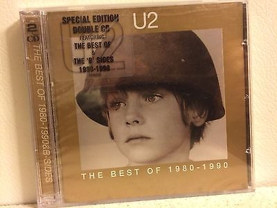 U2 THE BEST OF 1980-1990 2CD SPECIAL EDITION W B SIDES BONUS DISC BRAND NEW
