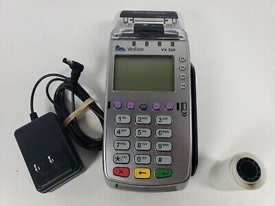 Verifone Vx 520 Credit Card Machine Ethernet Chip Reader - Testedworks
