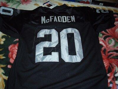 Oakland Raiders Darren Mcfadden Reebok Black sewn Jersey Size 50 replica Darren Mcfadden Jersey