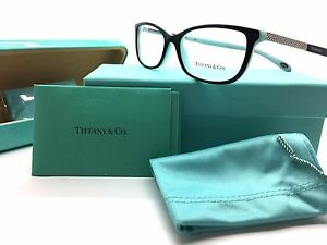 tiffany co blackblue eyeglasses swarovski crystals tf 2079b 8055 52mm frame