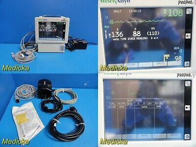 Welch Allyn Propaq Cs-242 Patient Monitor W Leads Sensor New Battery 21445