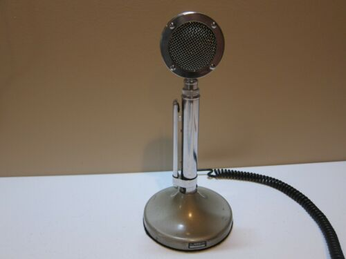 Astatic D-104 Microphone with T-UG9 Stand with 4 Pin Plug.