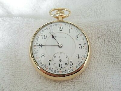 Burlington 21 Jewels 14KT Gold Filled Pocket Watch, Size 16S