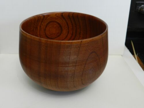 """CMA-bx WOOD LATHE TURNED TREEN BOWL, 6"""" h BY 5"""" WIDE"""