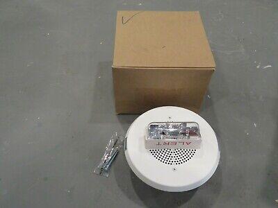New Wheelock E90-24mcc Strobe Speaker Ceiling Mount Fire Alarm