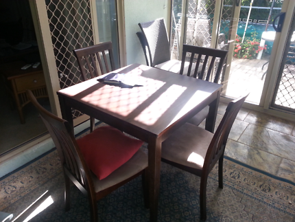 Wooden Table Four Chairs