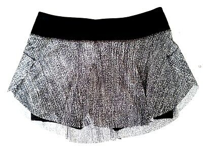 Lululemon Quick Pace Skirt Size 8 Skort Shorts SALP Black Reflective NWT