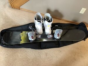 Burton 153 Snowboard, Boots and Bag
