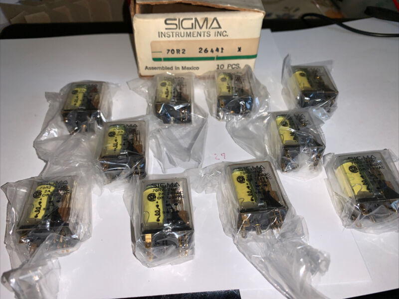 SIGMA RELAYS 70R2-24DC, 2A 28VDC OR 120VAC, P 26441 X NEW BOX OF 10