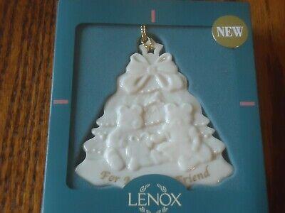 Lenox Ornament, Christmas Tree w/Bears, For My best Friend, Great (Best Christmas Tree For Ornaments)