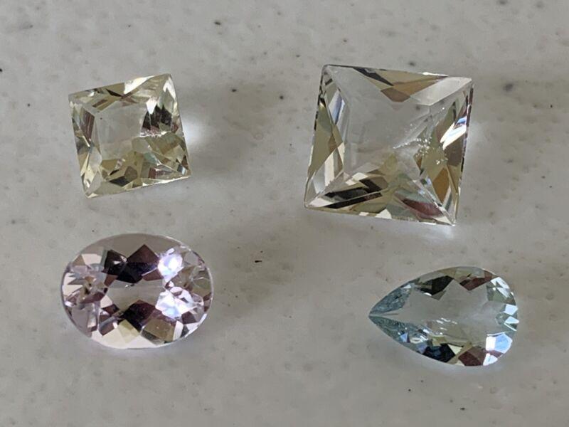Natural Gemstone Beryl Lot- Aquamarine, Morganite, Goshenite, And Heliodor