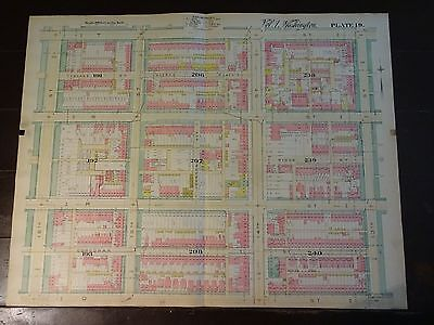 1892 Map of NW DC- Shaw Neighborhood - Rare large property specific detail.