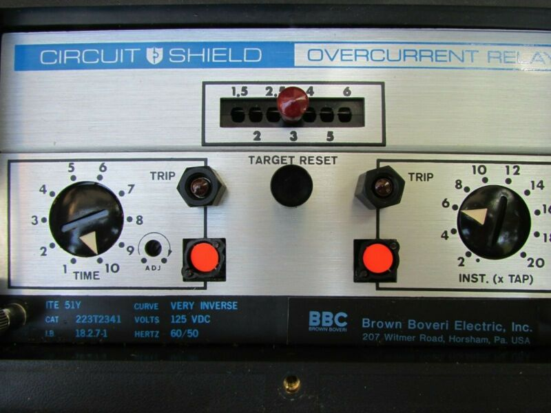 New BBC Power Circuit Shield Over current Relay Type 51Y, CAT 223T2341, US made