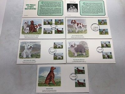 """Magic of Man's Best Friend"" Dogs Great Britain 1st Day of Issue Cover  FDC~L81"