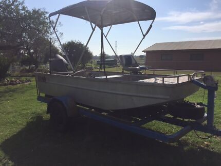 12ft Tinnie 30hp Yamaha outboard