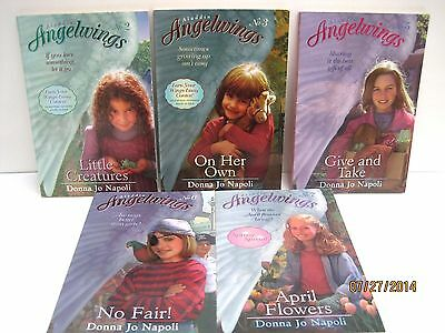 - Aladdin Angelwings Books by Donna Jo Napoli Lot of 5 Volumes 2-7