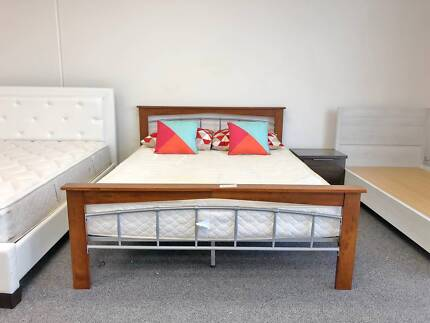 TODAY DELIVERY MODERN STRONG Queen bed and Comfortable mattress