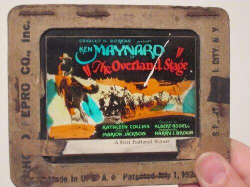 The Overland Stage - Original 1927  Movie Glass Slide - Ken Maynard