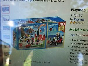Playmobil quad fire truck set