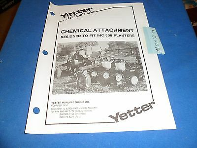 Drawer 21  Yetter Chemical Attachment Fit Ihc 500 Planters Operators Manual