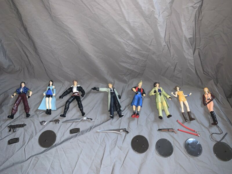 Bandai Final Fantasy 8 figure lot - Eight Main Characters Complete loose