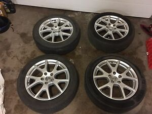 "4 19"" Dodge rims with 225/55/19 tires"