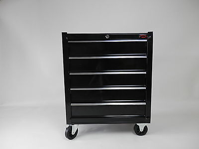 BLACK  LARGE ROLL CAB GARAGE TOOL CHEST BOX BALL BEARING SLIDE DRAWER