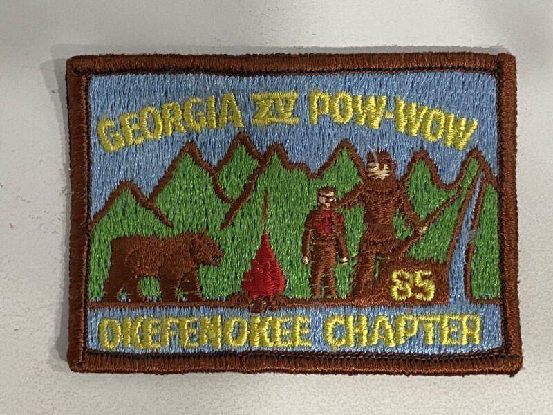 Vintage Royal Rangers Pow Wow 1985 Georgia Okefenokee Chapter Patch