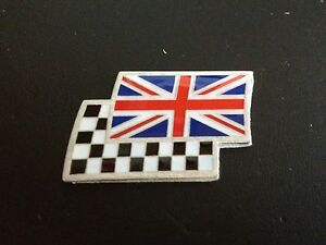 Union Jack and chequered flag car badge MG ZR TF MGF ZS ZT ZTT
