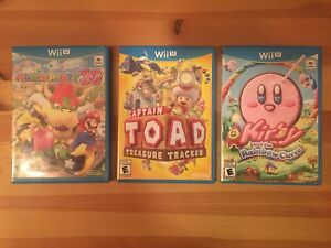 Various Wii U games, like new with box