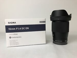 Sigma 16mm F1.4 for Sony E mount cameras (a6300, a6000 a7iii)