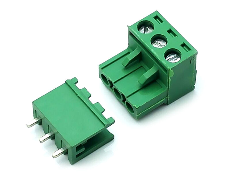 US Stock 10Set 2EDG 3 Pin 3P Plug-in Screw Terminal Block Connector 5.08mm Pitch