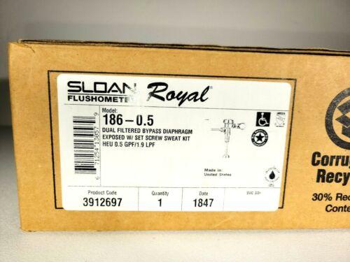 186-0.5 Sloan Royal® Exposed Manual Urinal Flushometer 0.5 CHROME Plate 3912697