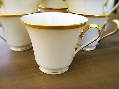 LENOX ETERNAL Porcelain China Ivory Tea Cup with 24K Gold Rim- Perfect Condition (Ivory Porcelain)