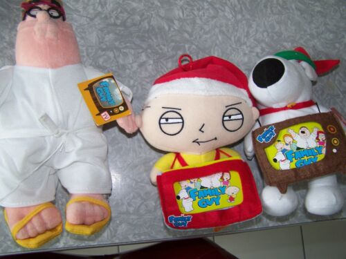 Family Guy Peter Stewie And Brian Christmas Plush Dolls
