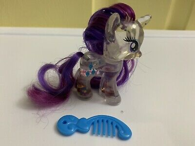My Little Pony G4 Rarity Brushable Hair Figure Water Cutie Comb My Little Pony Hair