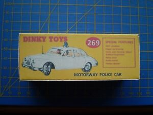 DINKY TOY REPRO BOX ONLY FOR NO 269 JAGUAR MOTORWAY POLICE CAR