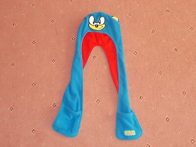 Sonic the Hedgehog all in one hat,scarf and mittens 1-3 years