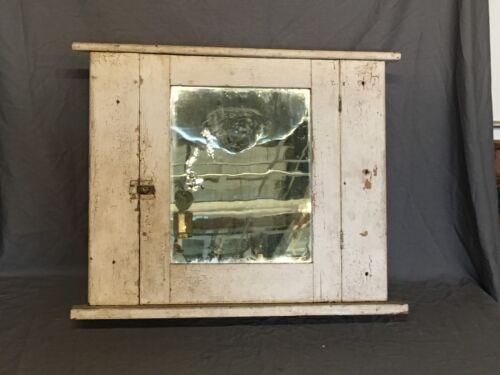 Antique Medicine Cabinet Wood Recessed Cupboard Old Vtg 277-18E
