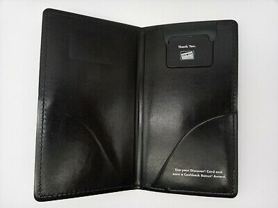 Waitress Pad Check Presentation Book Credit Card Holder Padded Discovery