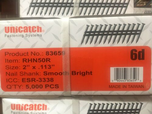 "2"" x .113 BRIGHT RING 21` Framing Nails 5000/Case Hitachi,DeWalt,Senco"