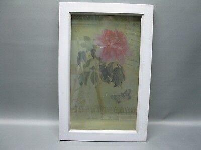 Bilderrahmen Fotorahmen Blumenbild Glasbild 50 cm x 32 cm