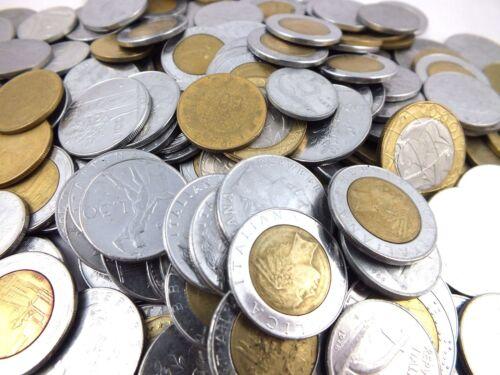 BULK LOT 1 POUND (0.45KG) ITALIAN COINS ITALY LIRE, LIRA REPUBBLICA ITALIANA