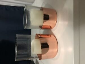 Set of copper candle holders